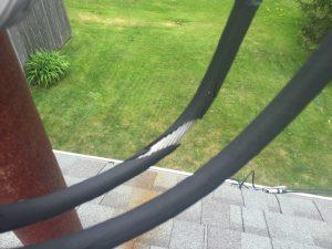Damaged service wire